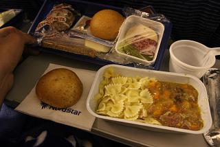 Food on the flight from Moscow to Norilsk, the Taimyr airlines