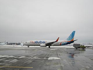 Боинг-737-800 авиакомпании Flydubai в аэропорту Киев Жуляны
