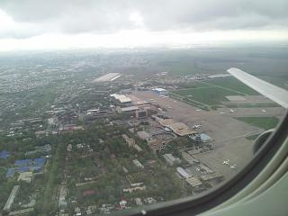 The view from the plane at Almaty airport