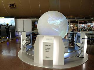 Virtual globe in terminal 5 of Stockholm airport Arlanda