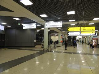 Arrival hall in terminal E of Sheremetyevo airport