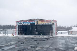 Aircraft maintenance hangar at Cherepovets airport