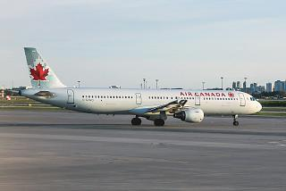 Airbus A321 C-GJWO operated by Air Canada to the airport Toronto Pearson international