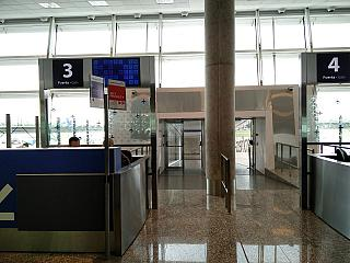 The gate at the airport in Buenos Aires Jorge Newbery