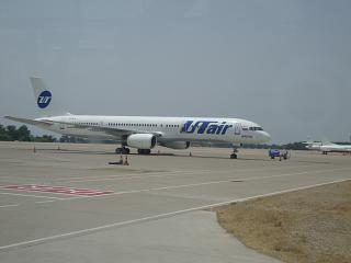 Boeing-757-200 of airline UTair at the airport Antalya
