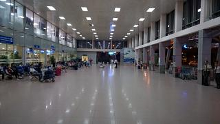 Outdoor lounge in the domestic terminal of Ho Chi Minh city tan son Nhat