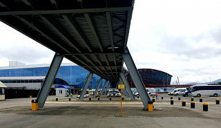 New passenger terminal under construction at Yuzhno-Sakhalinsk Khomutovo Airport