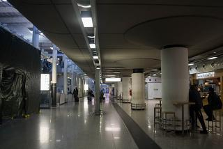 The arrival hall at the airport Catania Fontanarossa