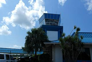 The control tower at the airport in George town on Cayman Islands