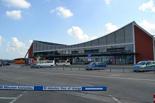 The passenger terminal of the airport Memmingen