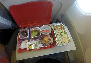 Flight meals on the flight Sharm El Sheikh - Moscow Ural airlines