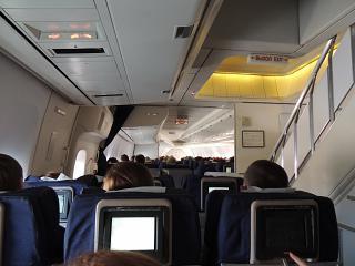 Салон самолета Боинг-747-400 авиакомпании