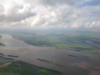 View of Amur river at the approach to Khabarovsk