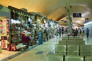 Gift shops at the airport of Hurghada