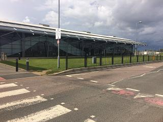 The passenger terminal of London Southend airport