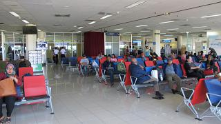 The waiting room on the first floor of the sterile area of the airport Pattimura