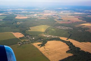 The suburbs - the view before landing at Domodedovo airport