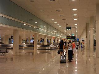 Baggage claim at the airport of Barcelona