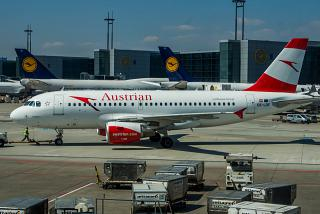 Airbus A319 Austrian airlines at Frankfurt airport