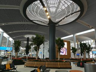 Seating area in the passenger terminal of airport Istanbul New