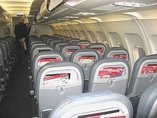 The cabin of the aircraft Airbus A320 Air Berlin