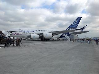 The Airbus A380plus at the air show in Le Bourget