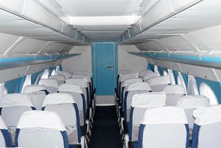 Пассажирский салон самолета Ан-24 авиакомпании