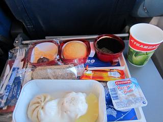Питание на рейсе Трансаэро Москва-Лион