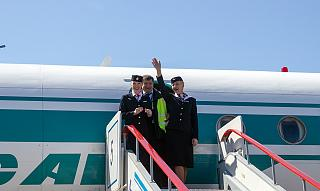 "Flight attendants of airline ""ALROSA"""