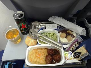 Flight meals on the flight Amsterdam Houston KLM