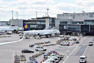 Gates at terminal 1 of Frankfurt airport