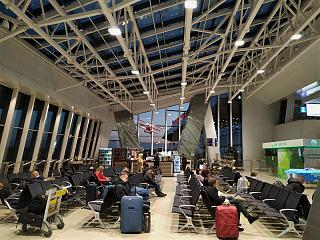 The waiting room at the airport Minsk national