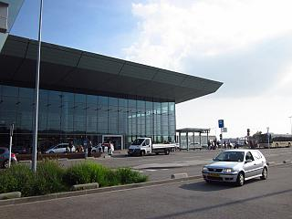 The terminal of Luxembourg airport Findel