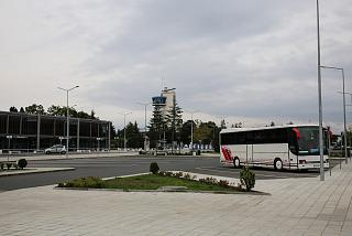 Station square at Burgas airport