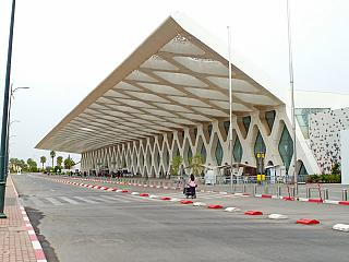 The old passenger terminal of the airport of Marrakech Menara