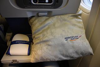 A set of passenger in economy class on long-haul Aeroflot flights