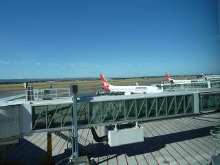 The platform of the airport Adelaide