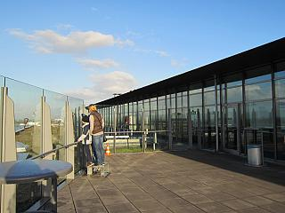 The observation deck at the airport of Dortmund
