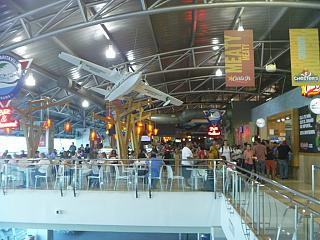 Кафе в чистой зоне аэропорта Панама Токумен