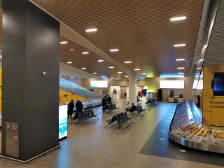 Baggage claim area at Platov airport of Rostov-on-Don