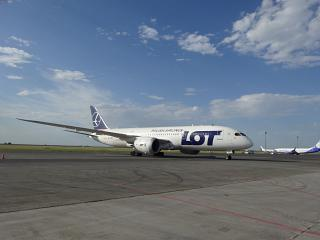 Boeing-787-8 SP-LRC LOT airline at the airport of Astana