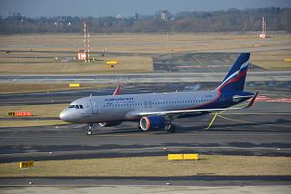 The Airbus A320 VQ-BSE Aeroflot at Dusseldorf airport