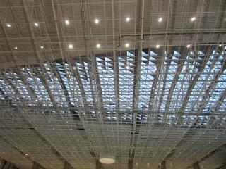 The ceiling in the new passenger terminal of airport Simferopol