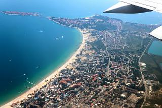 The resort of Sunny Beach and the town of Nessebar on the black sea coast of Bulgaria