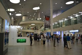 Hall for greeters in the terminal building of the Samara airport Kurumoch