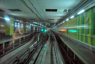 Железная дорога между терминалами аэропорта Дубай