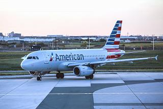 Airbus A319 N818AW of American Airlines at the airport Toronto Pearson international