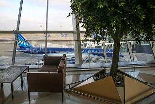 In the terminal 1 of the airport of Baku