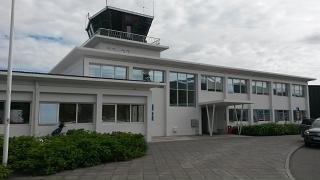 The terminal building of the airport of Akureyri