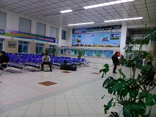 The waiting room at the airport of Nizhnevartovsk